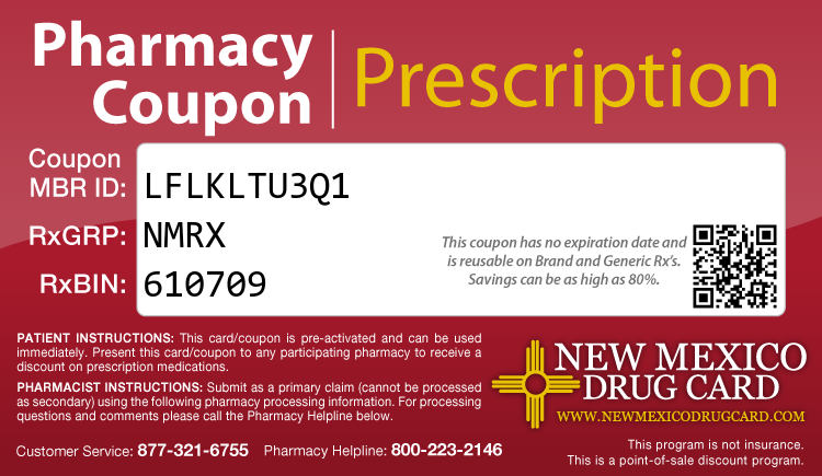 New Mexico Drug Card - Free Prescription Drug Coupon Card